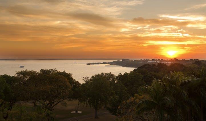 The sun sets on Darwin, australia