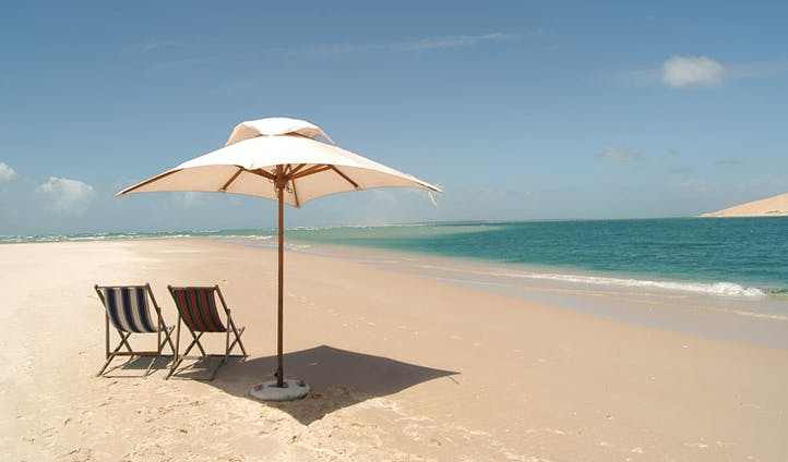 View of the beach in Mozambique