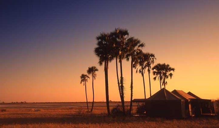 sunset over jacks camp, botswana