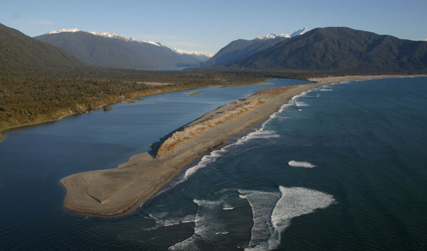 the view from a helicopter in New Zealand