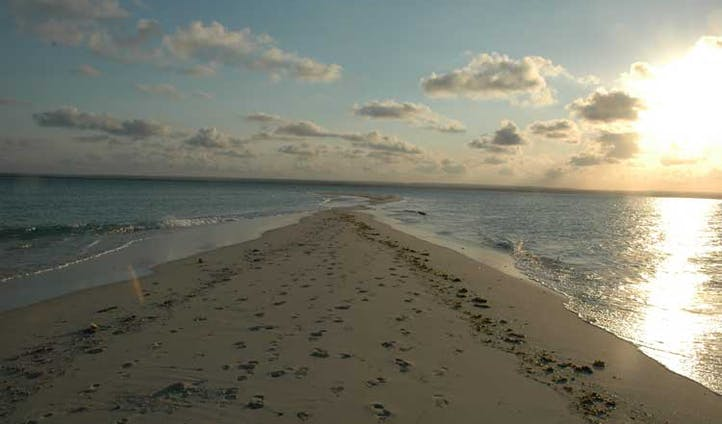Image of a sandspit, Mozambique