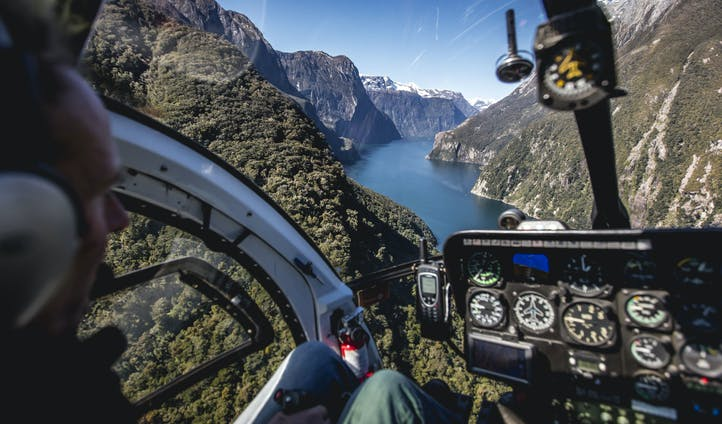 Aerial Milford Sound Views - Image by Miles Holden New Zealand