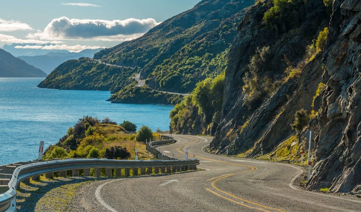 A stunning road in New Zealand