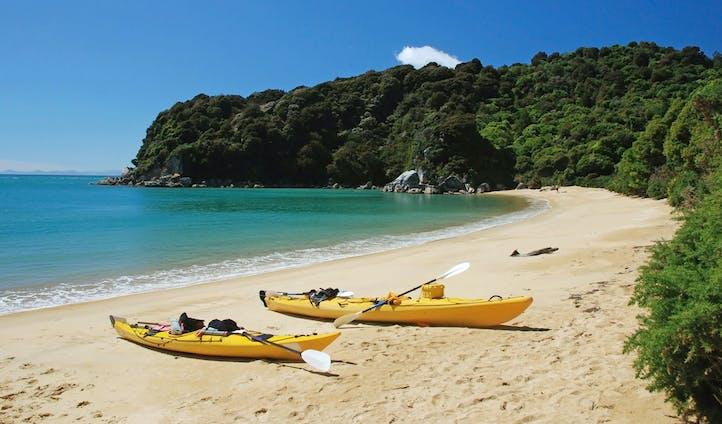 Kayak around Abel Tasman National Park