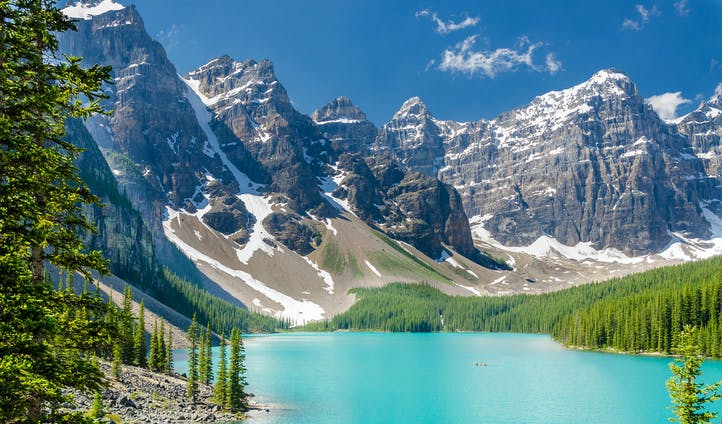 The majestic mountains and lakes of Alberta, Canada