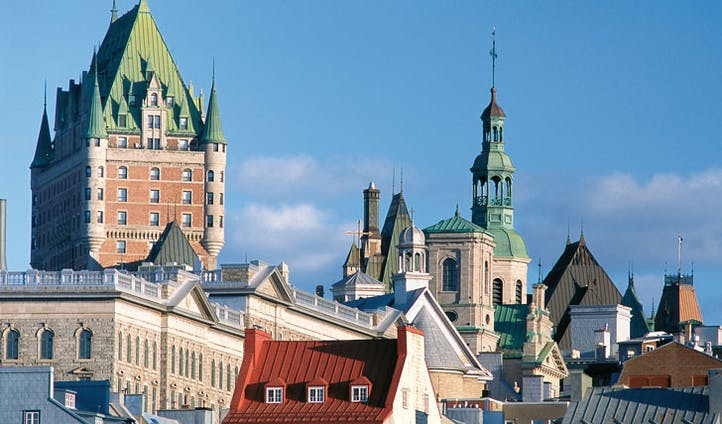 The grand colonial architecture of Quebec City
