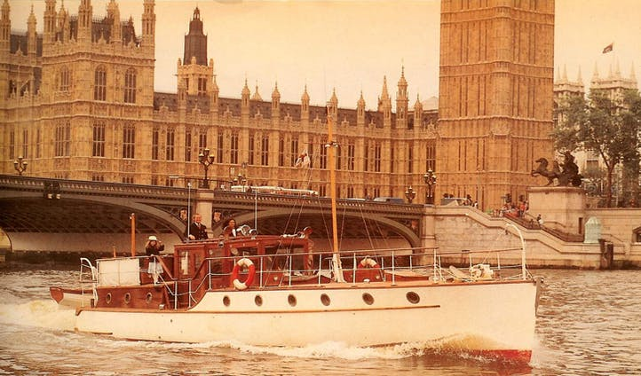Take to the River Thames on the Bluebird
