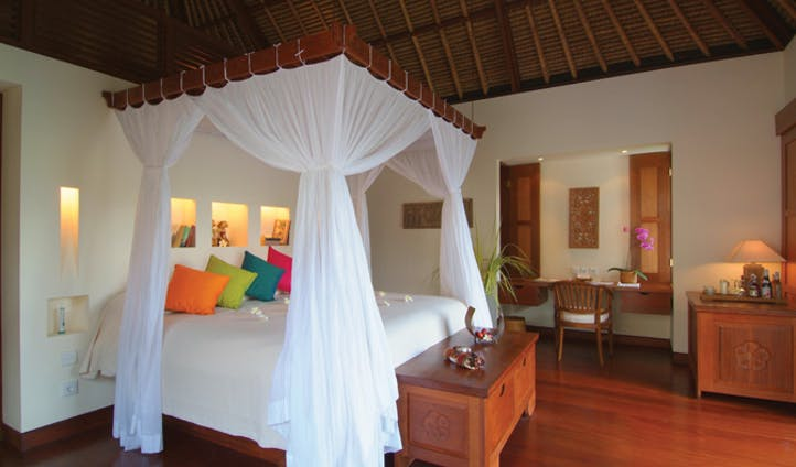 traditional balinese influences in your room