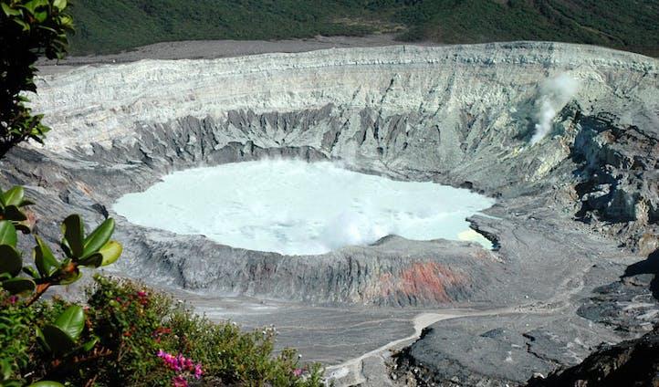 view of the poas volcano