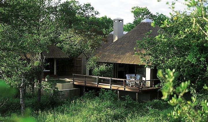 Royal Malewane's lush terrace
