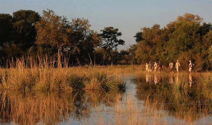Canoe through the Selinda spillway Botswana