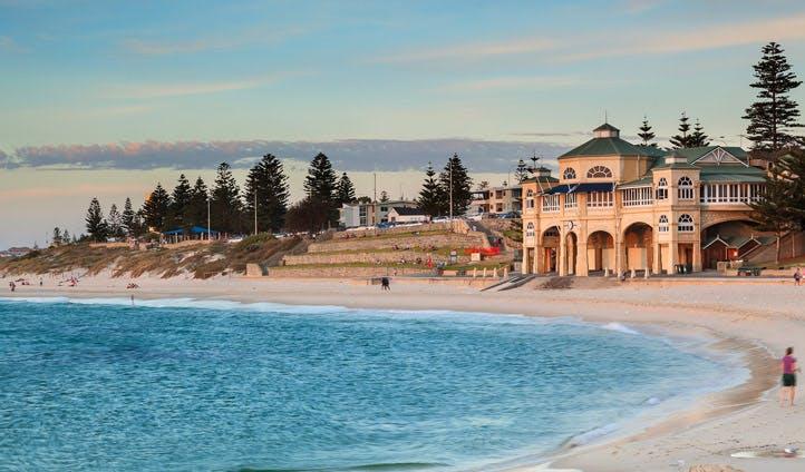 Perth's beaches at sunset