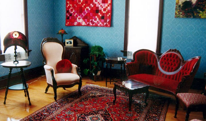 Take tea in the eclectic Parlour