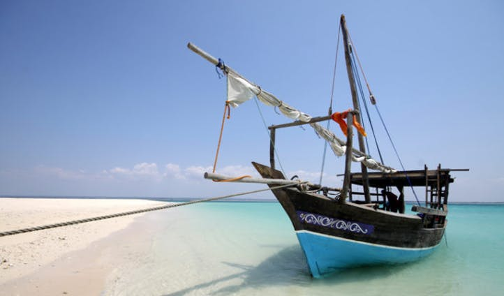 View of a traditional dhow boat