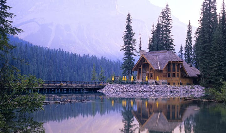Settle down amidst the views of Emerald Lake Lodge