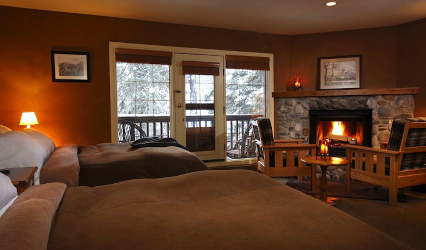 The cosy rooms at Emerald Lake Lodge