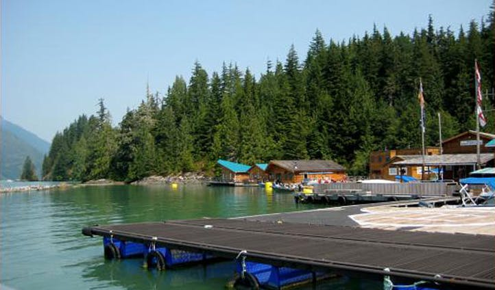 Soak in the views at Knight Inlet Lodge