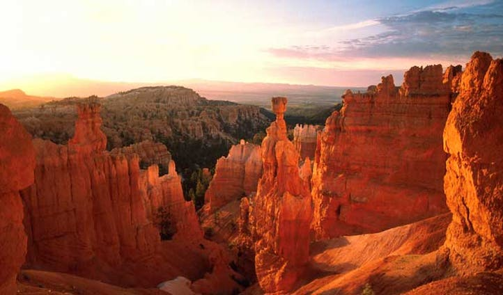 The red rocks of Bryce Canyon