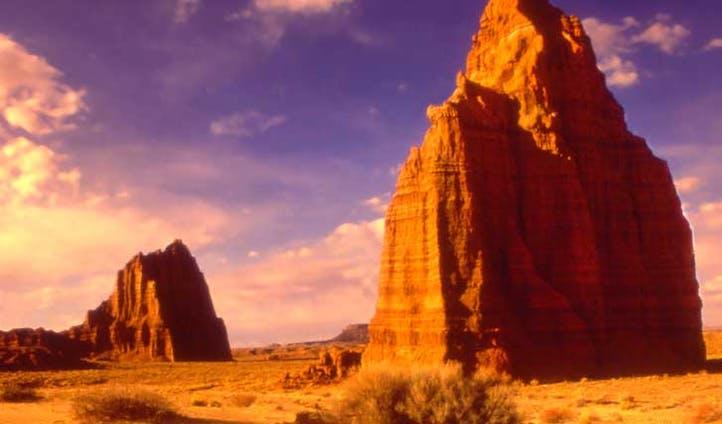Awe at the incredible rock formations in utah