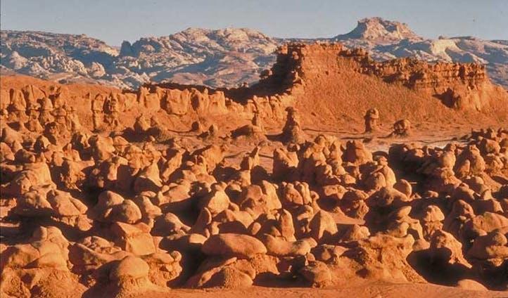 Rocky outcrops of goblin Valley, Utah