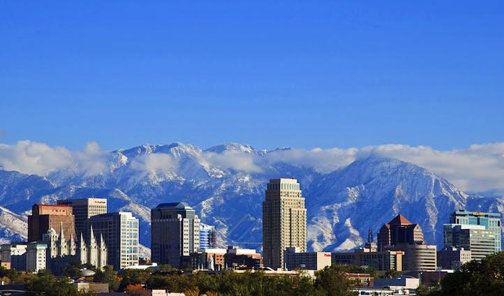 Salt Lake City's incredible mountain back-drop