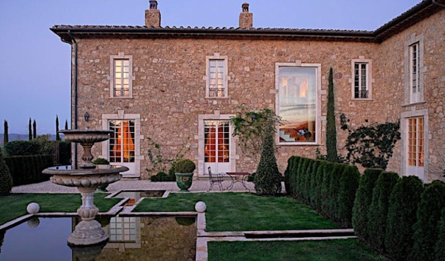Set in beautiful Tuscan gardens, Borgo Santo Pietro, Italy