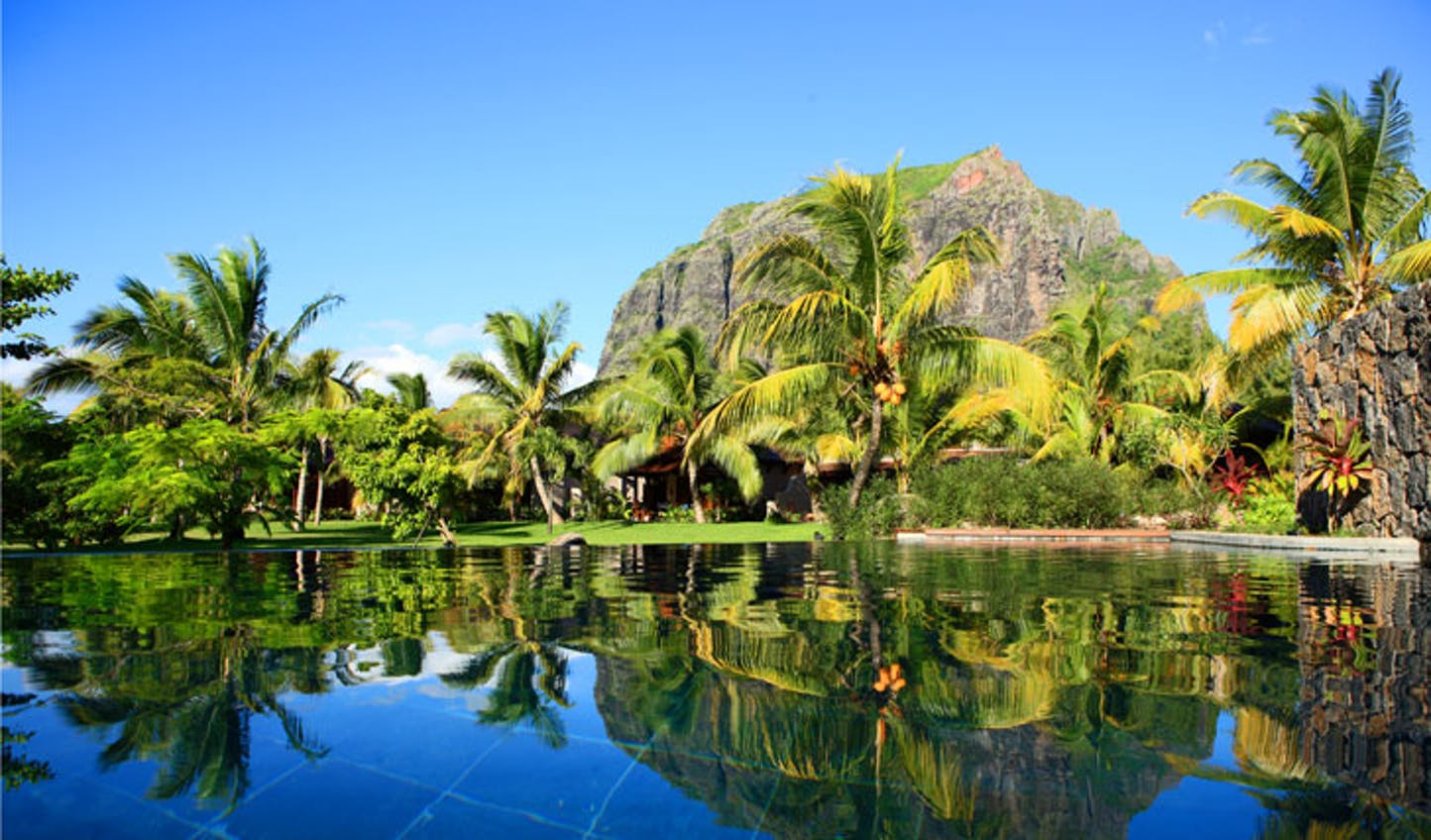 The lush gardens at Le Morne