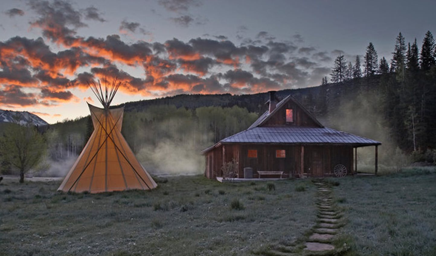 Sleep under the stars at Dunton Hot Springs