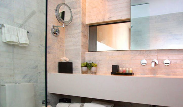 Get clean in the hotel's chic washrooms
