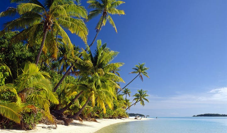 Relax on the powdery sands of The Cook Islands
