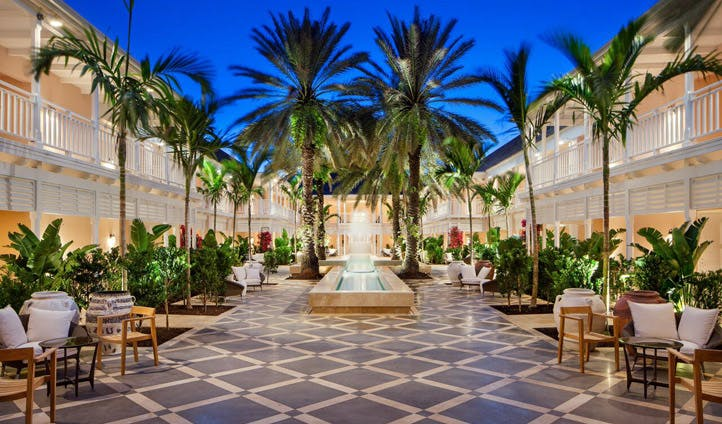 The courtyard at One&Only Bahamas