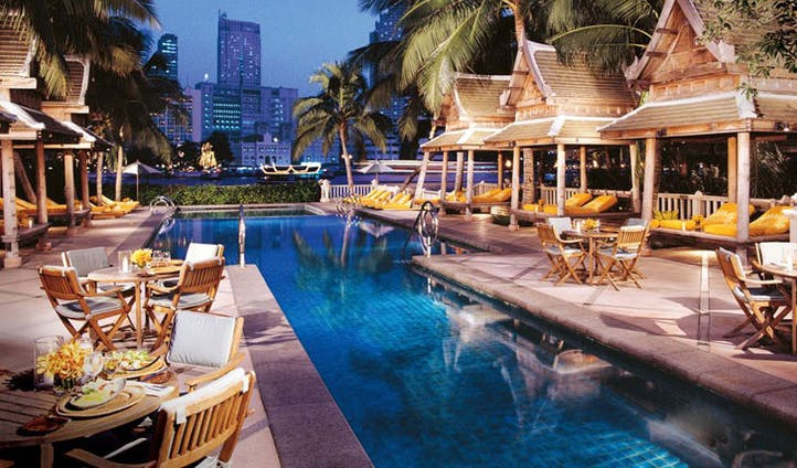 Outdoor pool at The Peninsula Hotel