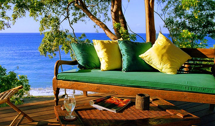 Relax overlooking the calm waters