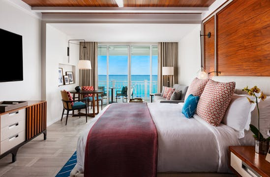A bedroom at One & Only, Bahamas