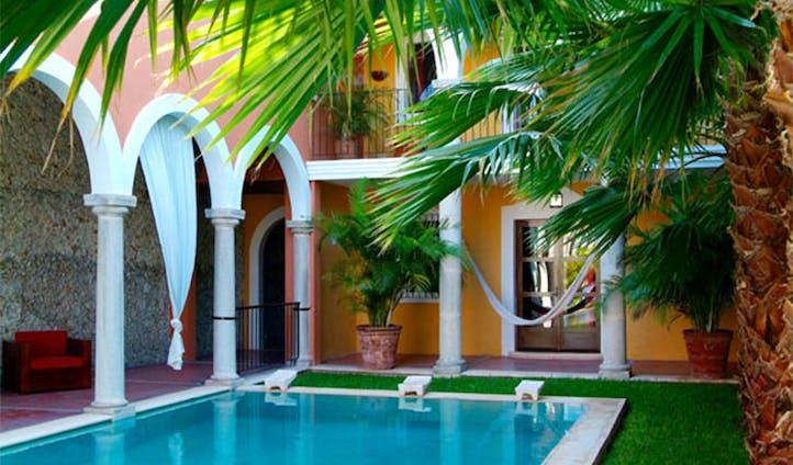 Blue pool at La Hacienda, Mexico