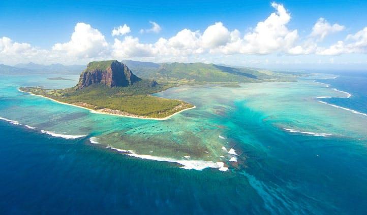 Panoramic views over Mauritius