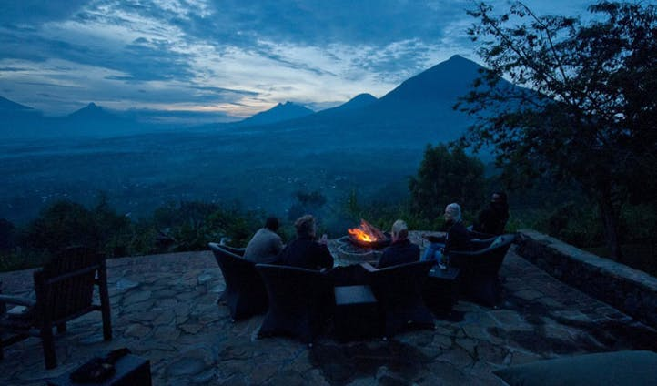 Sunset at the Virunga Lodge