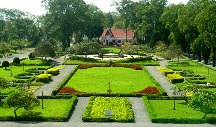 Wander through the hotel's neatly pruned gardens