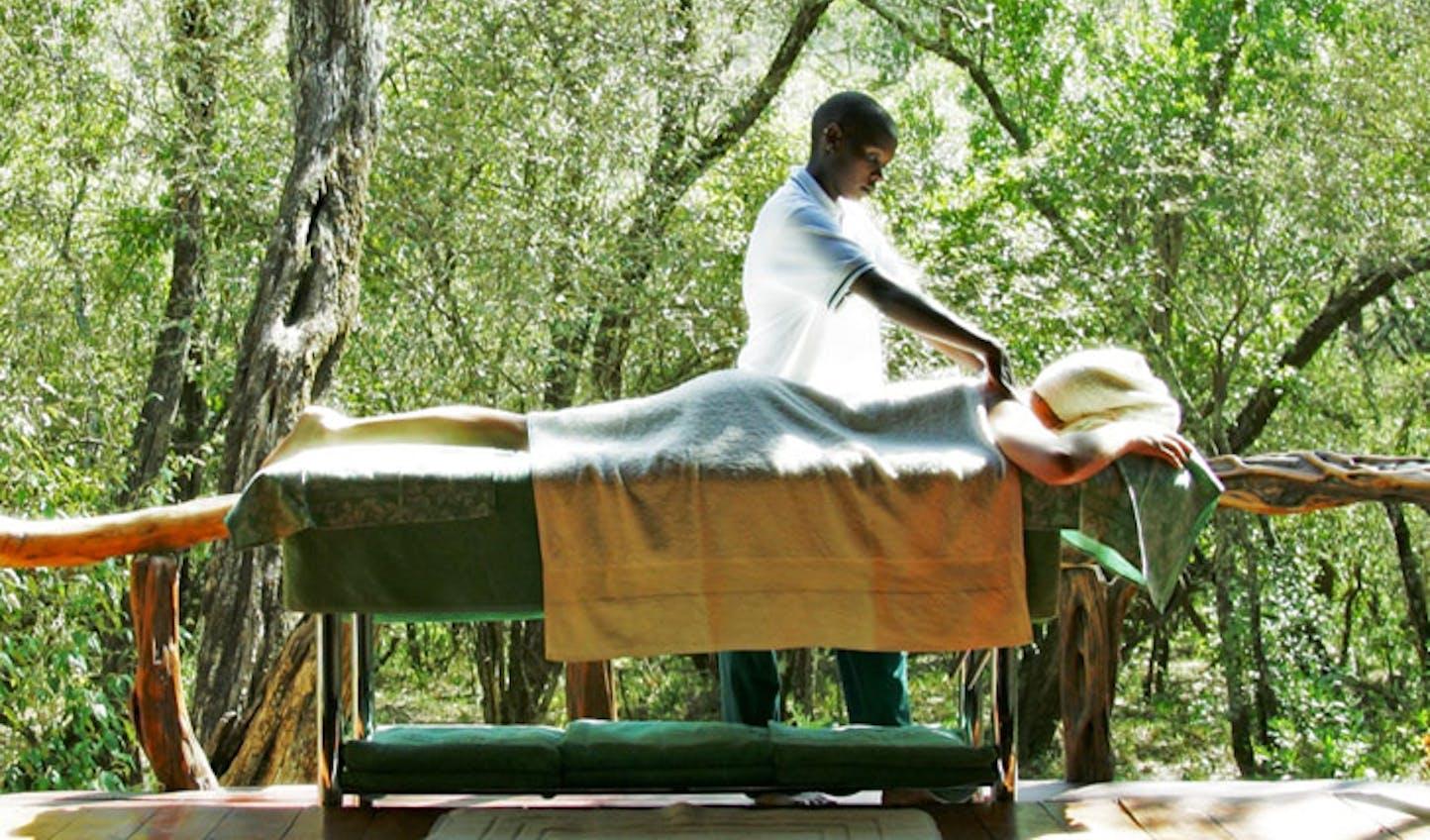 Massage at Kenya's Saruni Mara