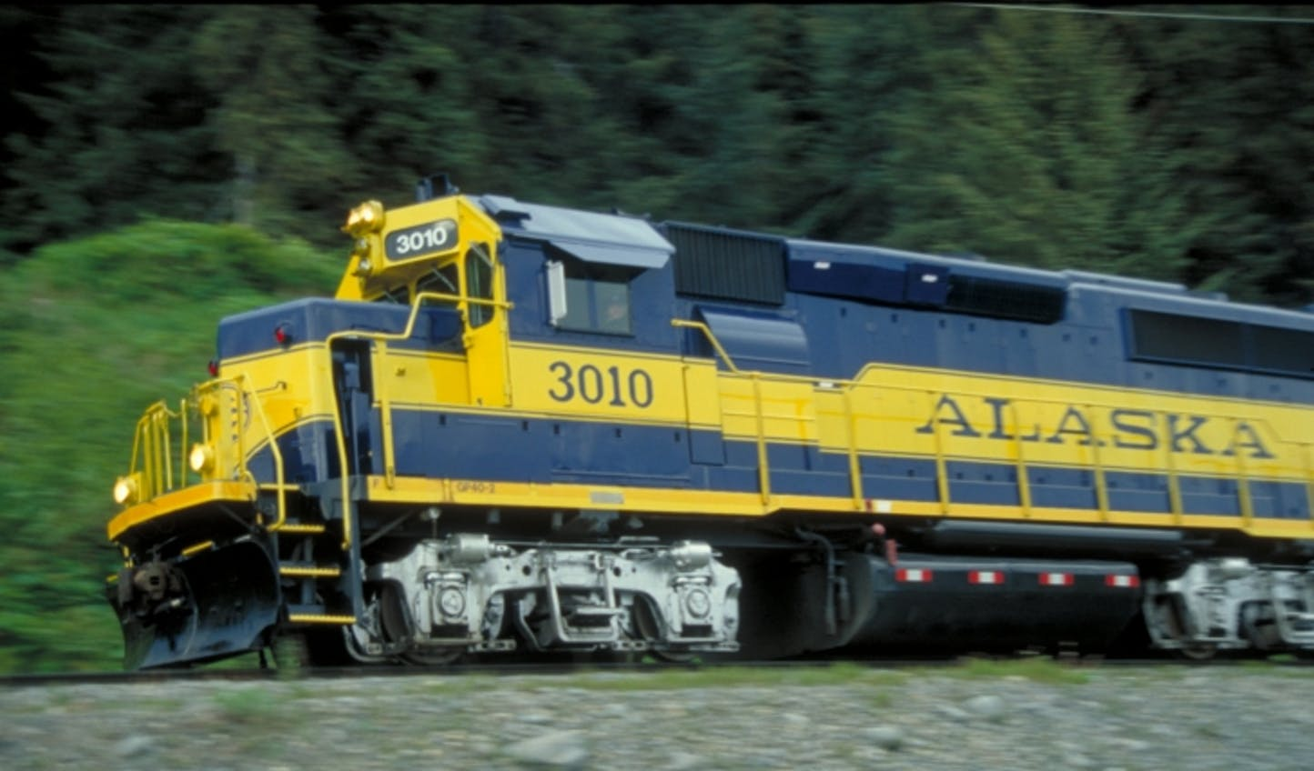 Soak in the sights on the Alaska railroad train