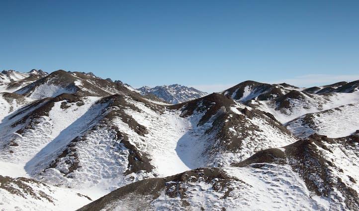 The mountainous landscape