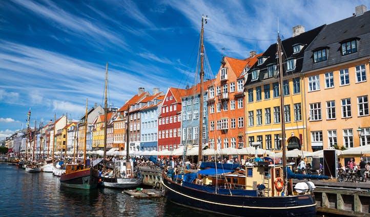 Bright colours of Copenhagen