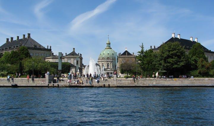 The grand buildings of Copenhagen