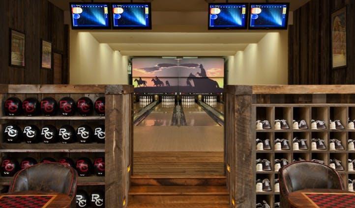 bowling alley at saloon bar