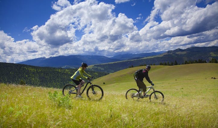 Mountain biking at Rock Creek