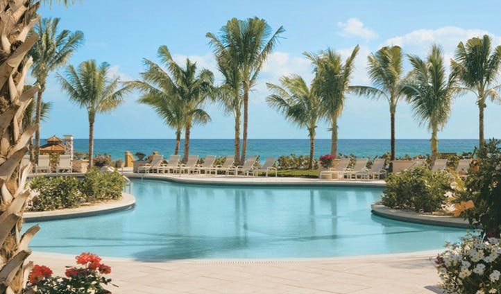 The pool overlooking the ocean