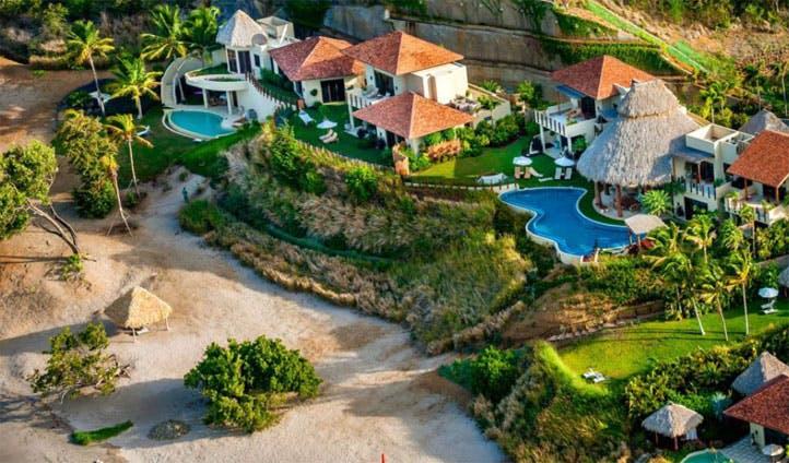 Aerial views over Mukul Resort