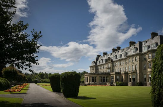 The beautiful frontage of the Gleneagles