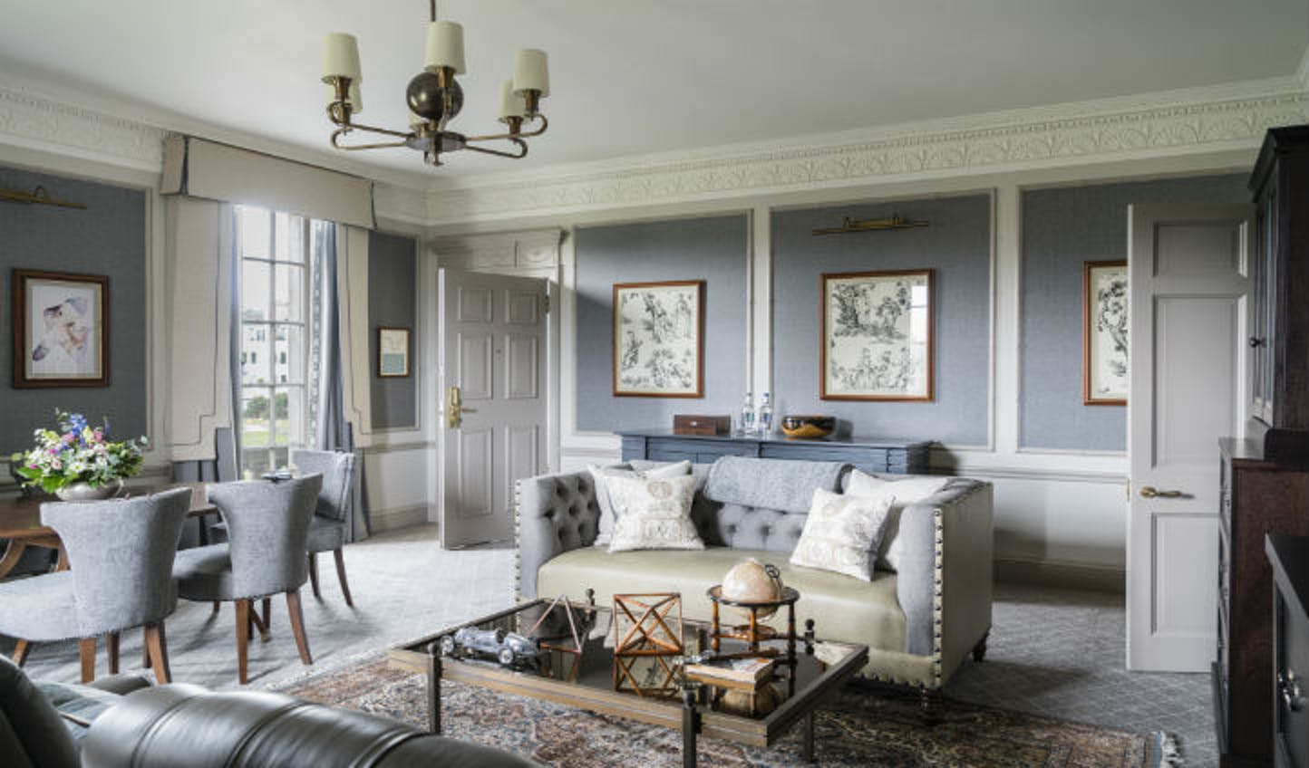 The sitting room in a Gleneagles bedroom