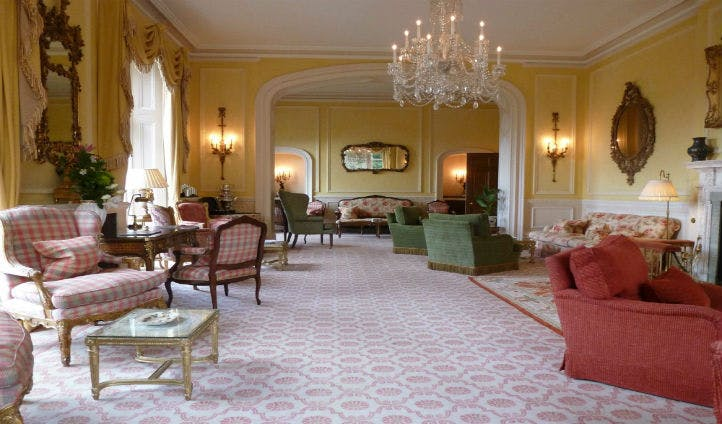 An impressive sitting room in Inverlochy Castle